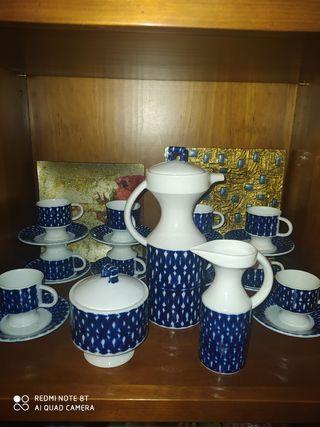 Juego de cafe de 13 piezas sargadelos
