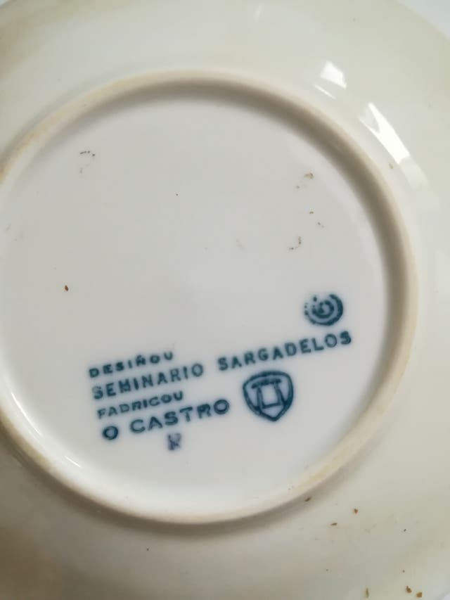plato adorno Sargadelos