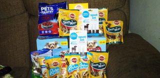 dog food and dog bed