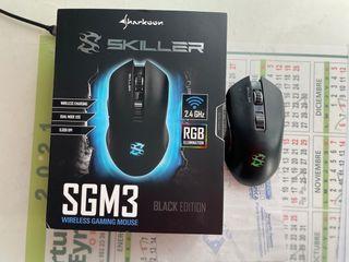 Sharkoon Skiller SGM3 ratón gaming inalámbrico.