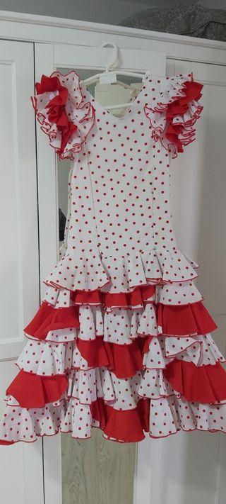 traje flamenca niña, sevillana, vestido