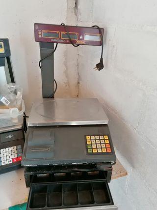Balanza digital electrónica con caja registradora