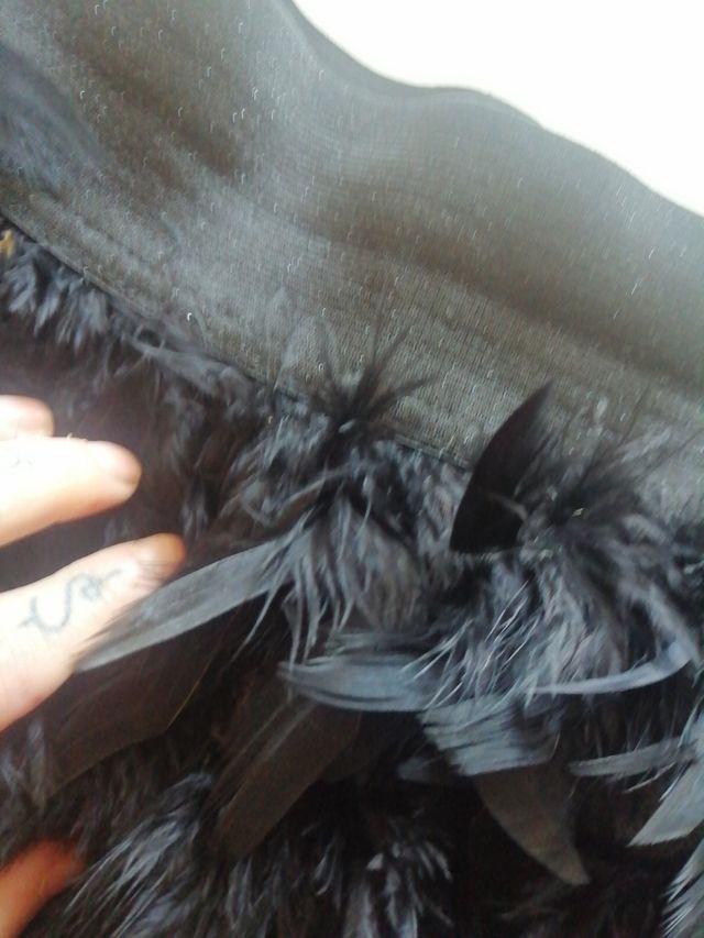 falda plumas estradivarius