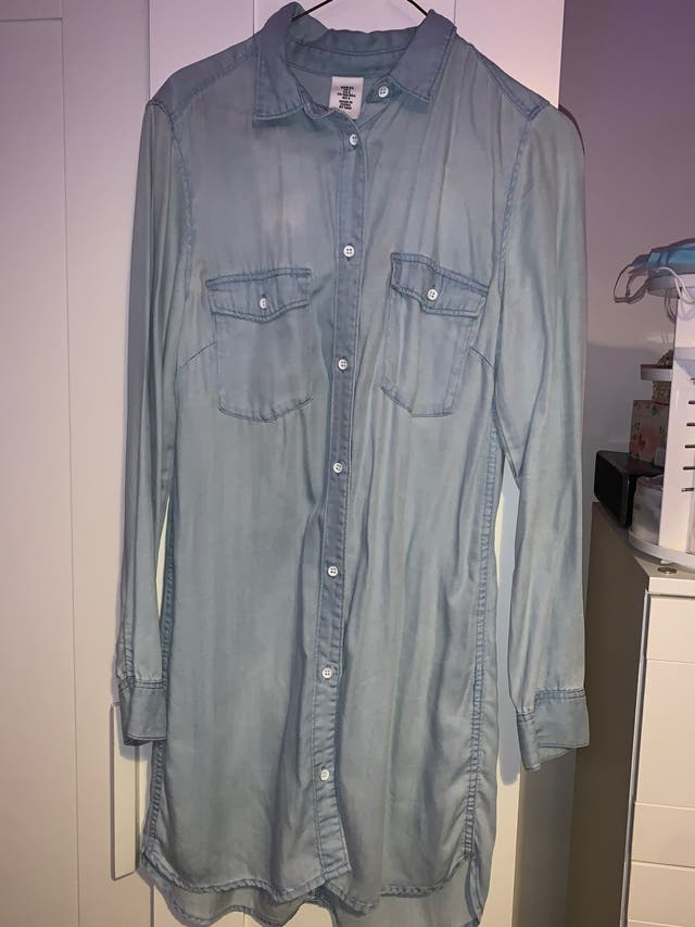 Blue denim shirt small