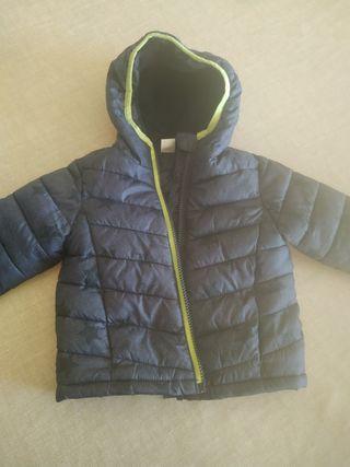 abrigo bebé impermeable con forro polar