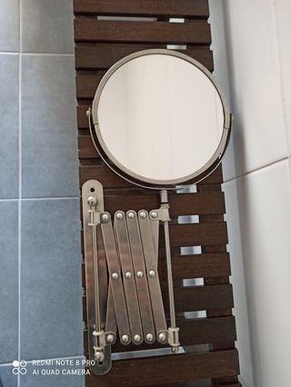 Espejo de baño redondo extensible