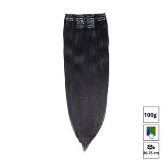 Extensiones clip pelo natural liso 100g