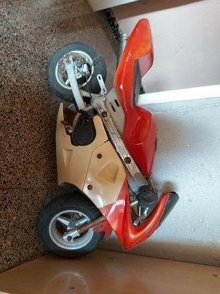 mini moto para niño de gasolina