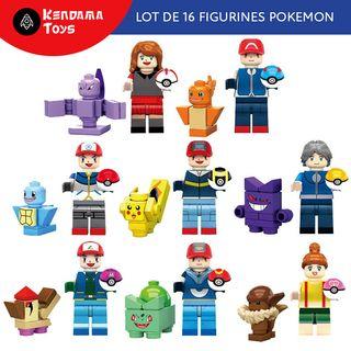 Pack de 16 Figurines type LEGO POKEMON | Pikachu