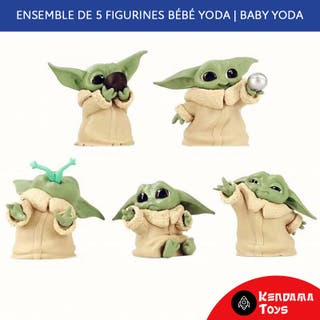 Lot de 5 Figurines bébé / baby Yoda | Mandalorian