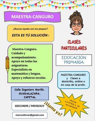 MAESTRA-CANGURO-CLASES PARTICULARES