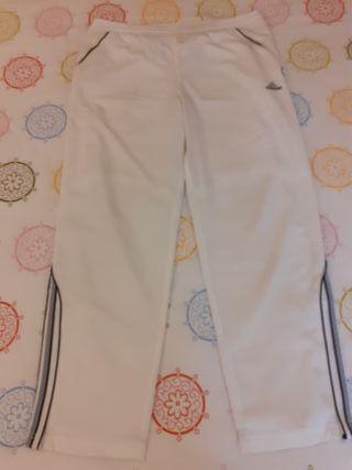 Pantalon chandal hombre blanco Adidas