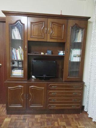 Mueble modular vintage de madera