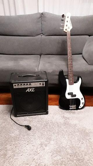 vendo bajo academy con amplificador