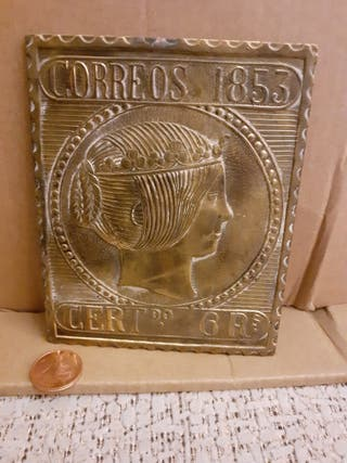 sello correos 1853 cert 6 Rs