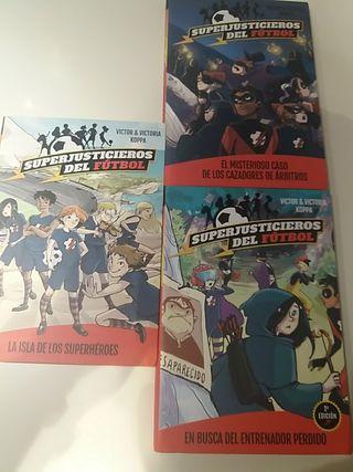 3 libros Superjusticieros del fútbol