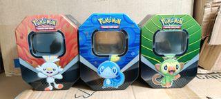 Latas vacias cartas Pokemon