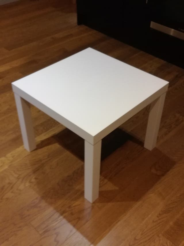ikea white table (Lack)