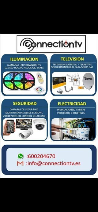 antena satelital. cámaras de seguridad