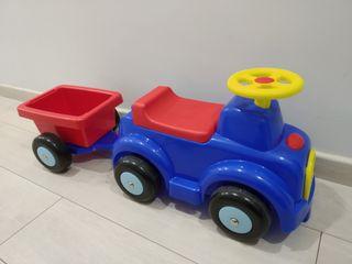 Correpasillo tractor remolque