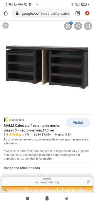 cabecero malm Ikea color vengué