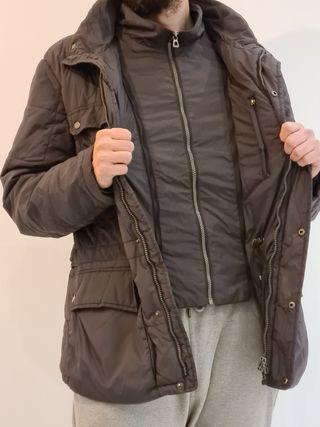Abrigo hombre gris Geox