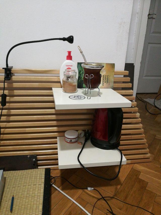 Cama tatami + futón + cabecero (todo junto)