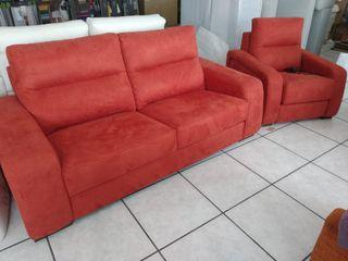 sofá +sillón eléctrico