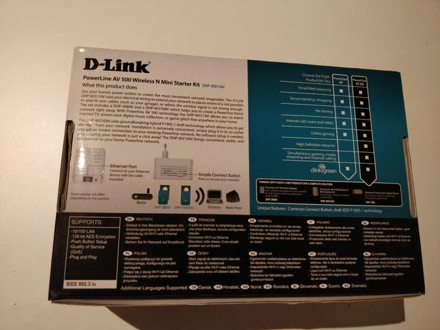 Repetidor PLC D-Link PowerLine AV500