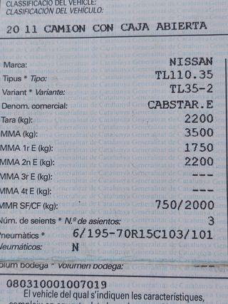 Nissan Cabstar 2002