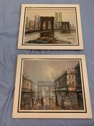 Cuadros pinturas New York y Paris
