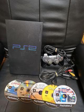 Playstation 2 con 5 juegos