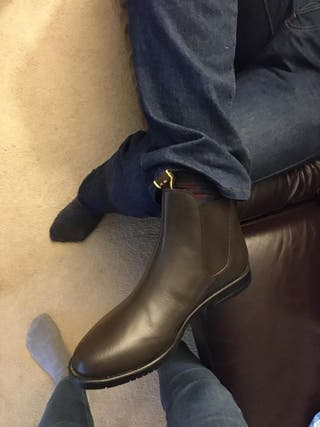 Chelsea men boots. NEW. BROWN. LEATHER.