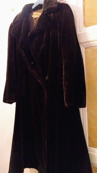 abrigo de piel Mouton natural,