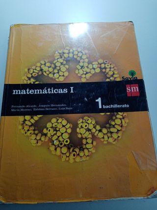 libro matemáticas 1 bachillerato editorial sm