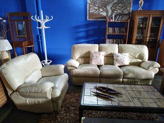 Sofá + sillón reclinables y eléctricos
