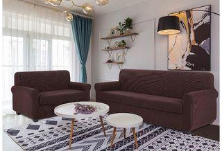 Set de fundas elasticas para sofá de 2 + 3 plazas