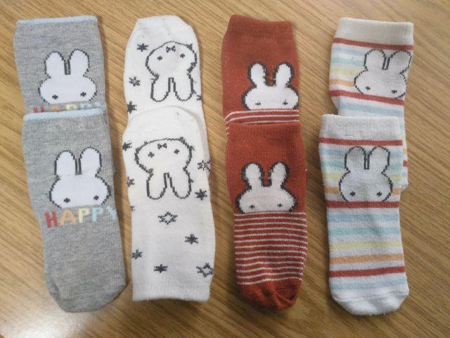 Lote 8 pares calcetines de conejitos, talla 76-80