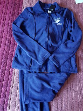 Chandal polar azul marino Talla S