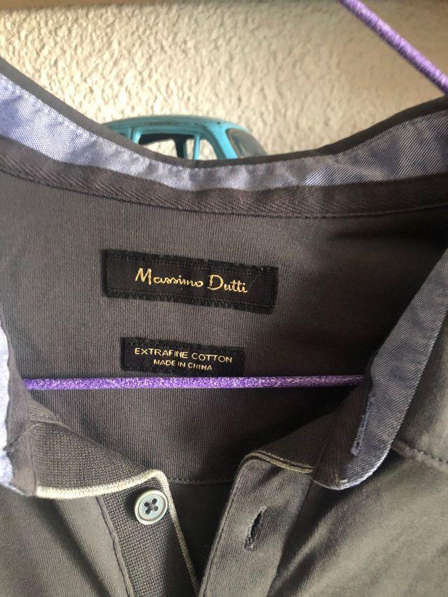 Polo gris Massimo Dutti