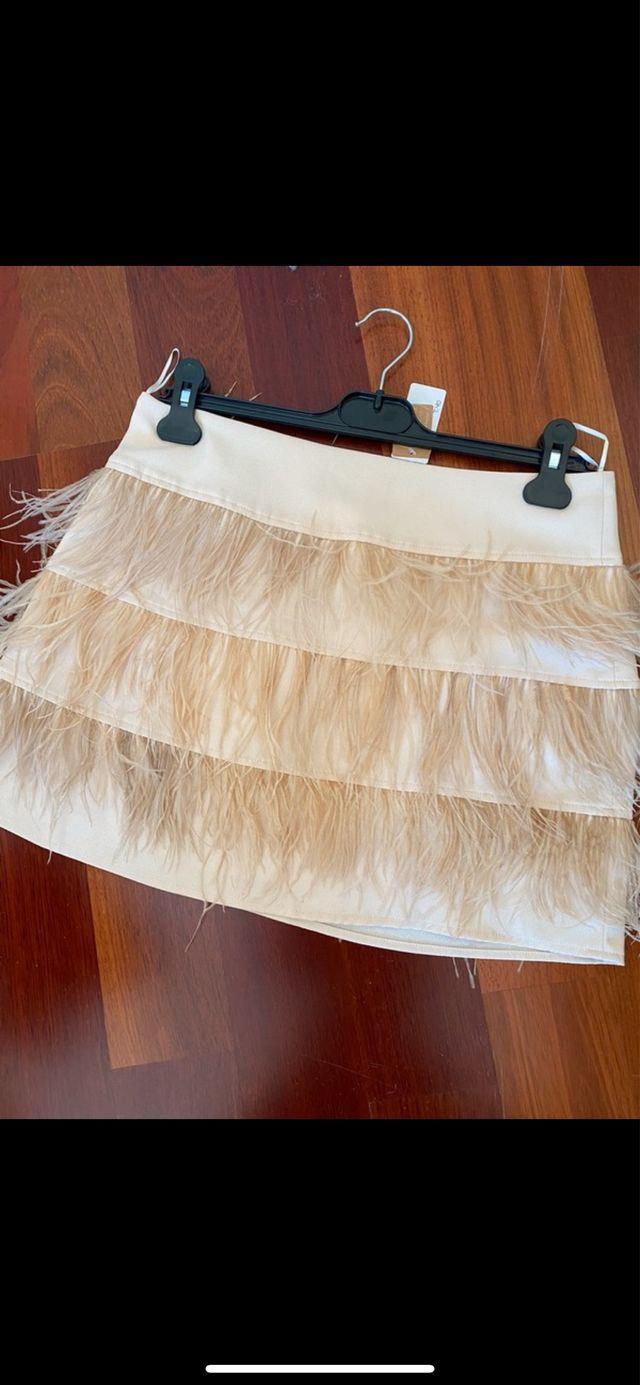 falda plumas Fox Atelier talla M