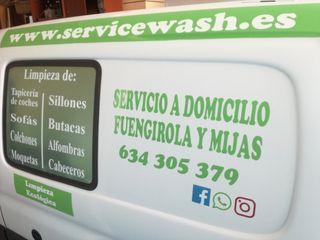 Servicio de recogida; limpieza y entrega de vehícu