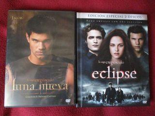 Películas Luna nueva y Eclipse (DVD)