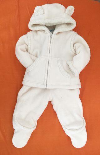 Conjunto de abrigo extremo invierno bebé 6-9m