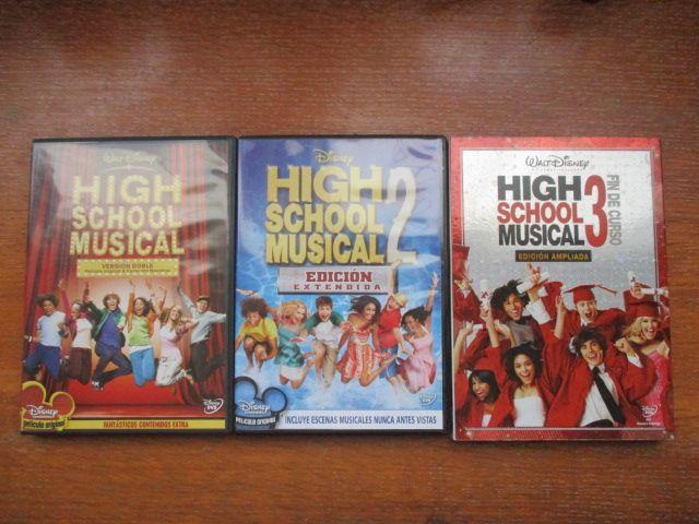 Películas High School Musical 1, 2 y 3 (DVD)