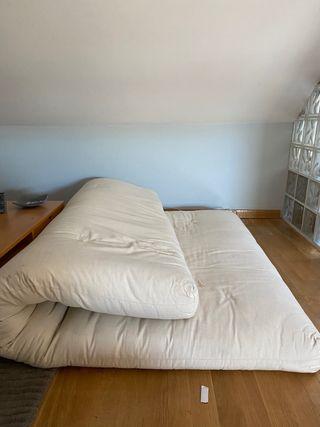 Futon japonés de algodón 140