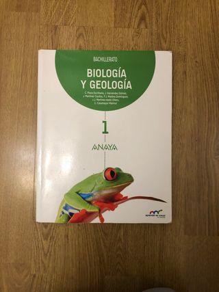 Libro Biología y Geología 1º de Bachillerato Anaya