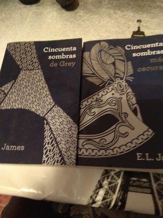 libros cincuenta sombras de grey y 50 sombras mas