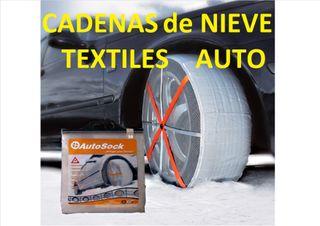 Cadenas de nieve, textiles, ruedas 13/14/15/16