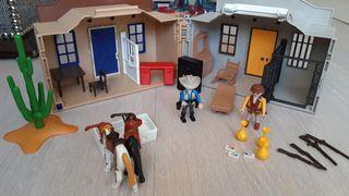 Pack Playmobil maletin Oeste y Cofre Tesoro Pirata